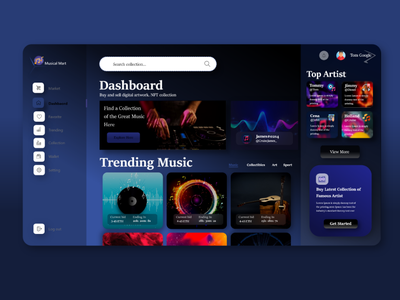 Marketplace Modern Dashboard music landing page graphic design website music player concept dark advance templates themes inspiration pro marketplace musical modern illustration ui creative design dailyui