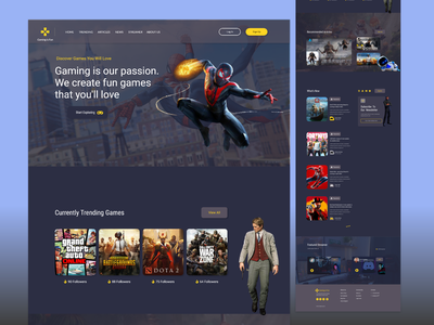 3D Game Landing Page UI Design customer buying product sell trending pro fun 3d templates themes dark website video game illustration ui new design landing page graphic design dailyui creative