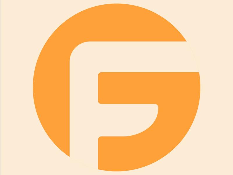 G & F Letters illustrator vector typography brand logodesign logos