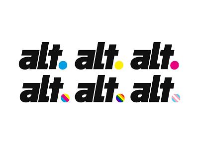 Alt Logo gay pride pride gay branding typography logo flat design