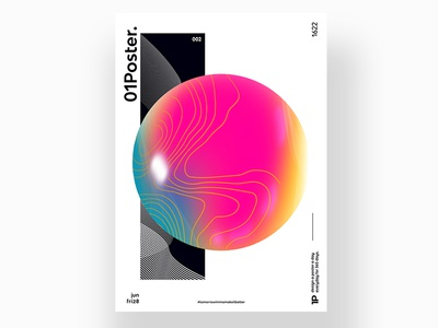 A Poster A Day - 002 poster art poster colorful graphicdesign graphic design abstract art abstract photoshop art photoshop typography art