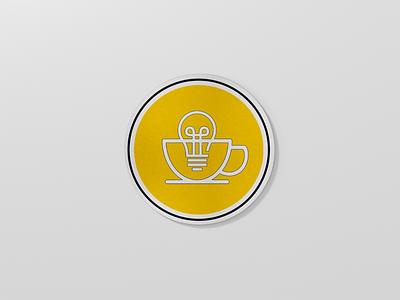 Morning Ideas Coaster flat logo brand yellow minimal clean coaster design
