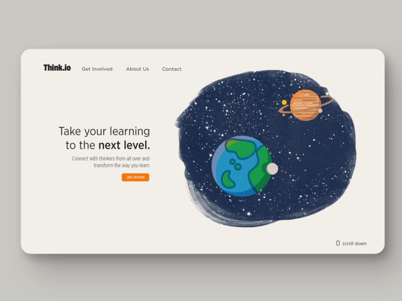 Landing Page Concept landingpage illustration flat brand design typography