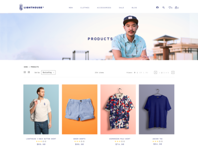 Clothes E-Commerce Products Page (W.I.P)