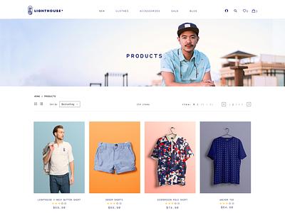 Clothes E-Commerce Products Page (W.I.P) clothes shop product page workinprogress ecommerce shop website brand design