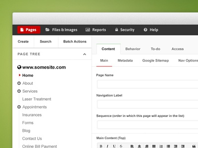 CMS Admin ui admin cms content management system