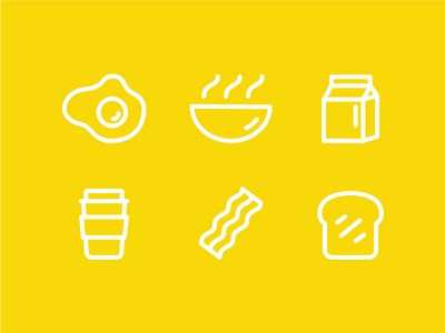 It's time for breakfast!  toast bacon coffee milk egg vector illustration icons breakfast