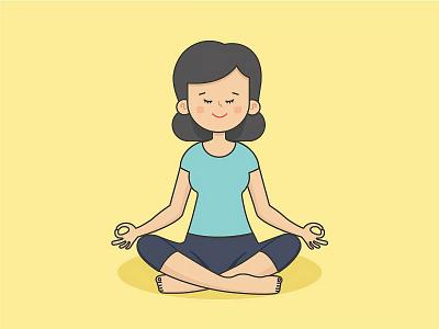 Yoga Mom meditation colour yoga pose pose yoga icon illustration