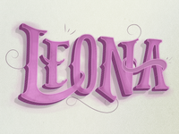 Working on lettering illustration
