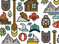 Canadian Summer Postcard