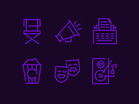 Neon Light Inspired Icons