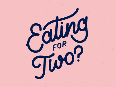 Eating For Two? type mono weight vector design branding logo lettering