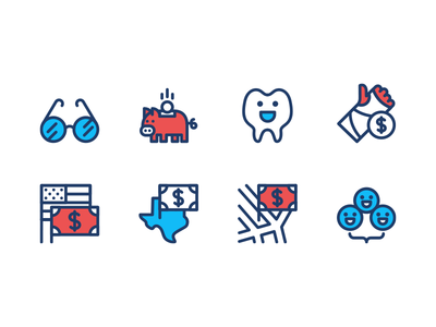 HR Video Icons illustration happy cute employee benefits compensation taxes finance hr iconography icon set