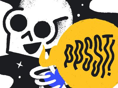 Ppsst design character texture skull illustration
