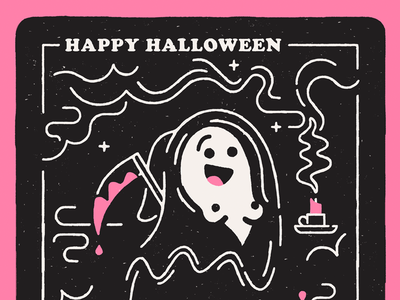Reaper bb boo graphic texture line illustration horror spooky reaper ghost halloween