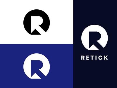 Retick Logo Branding - R Letter Logo