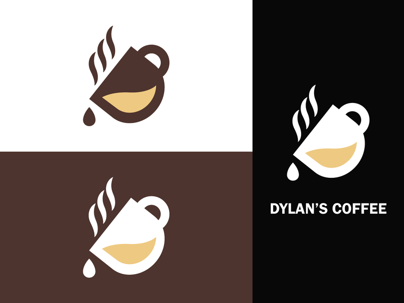 Dylan's Coffee Logo Branding - Coffee Shop Logo