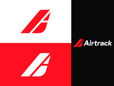 Airtrack Logo Branding design logotype day 12 branding design dailylogo dailylogochallenge logodesign concept branding concept minimal simple wings pioneer airline skybound airtrack logo design branding logo