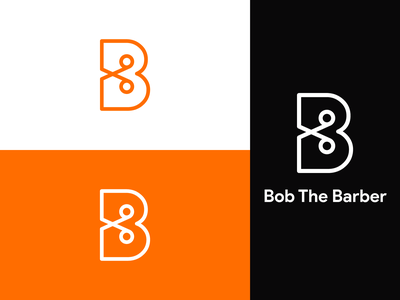 Bob The Barber Logo Branding letter b scissor haircut barbershop barber bob the barber simple minimal brand identity branding concept logodesign dailylogochallenge dailylogo logo branding design logotype day13 design