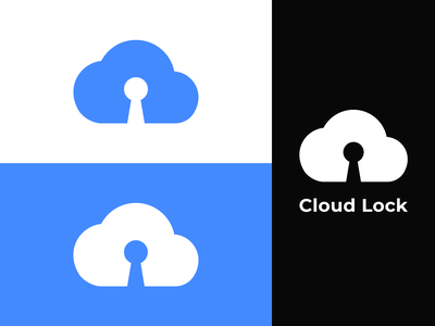 Cloud Lock Logo Branding cumulous zip cloud vector icon flat dribbble dailylogo concept lock minimal simple brand identity branding dailylogochallenge logo design logo negative space computing cloud