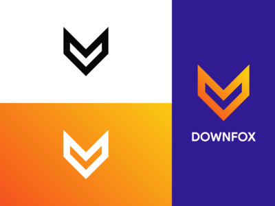 DownFox Logo Branding