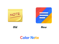 Color Note Icon Redesign