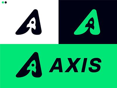 Axis Logo Branding letter a logo dailylogochallenge concept dark blue cyan flat vector dribbble brand identity modern symbol rocketship logo rocketship rocket logodesign logo axis branding identity branding