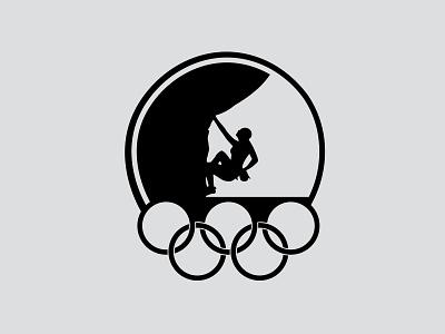Olympic Bouldering Badge branding logo illustration design