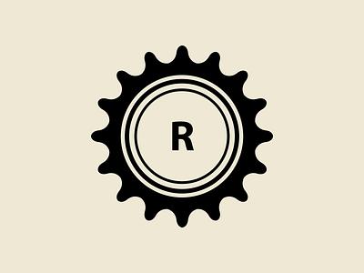 2015 Retrographic Logo retro old 2015 graphic design vector icon branding brand symbol logo sprocket gear cog bicycle bike