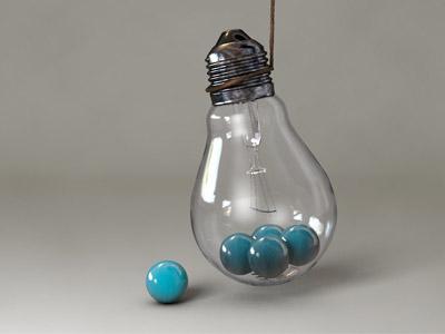 filled light bulb