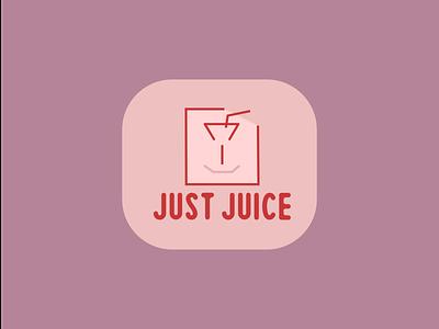 Juice shop logo character logo minimalistic pink juice glass logo comic face juice shop minimal illustration design simple ui creative vector logo design logo graphic design branding