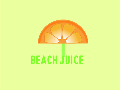 Juice shop logo combination mark fruit logo orange logo umbrella logo daily logo beach juice logo modern minimal ui illustration design simple creative vector logo design logo graphic design branding