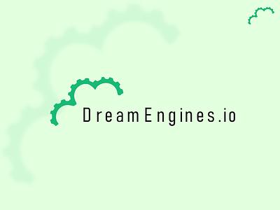 DreamEngines logo design gear wheel logo cloud logo minimal modern ui illustration design simple creative vector logo logo design graphic design branding