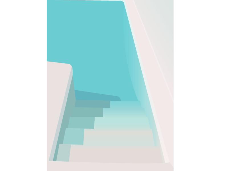 Cool Pool digital illustration vector flat illustration illustration pool