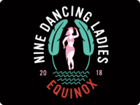Nine Dancing Ladies Logo