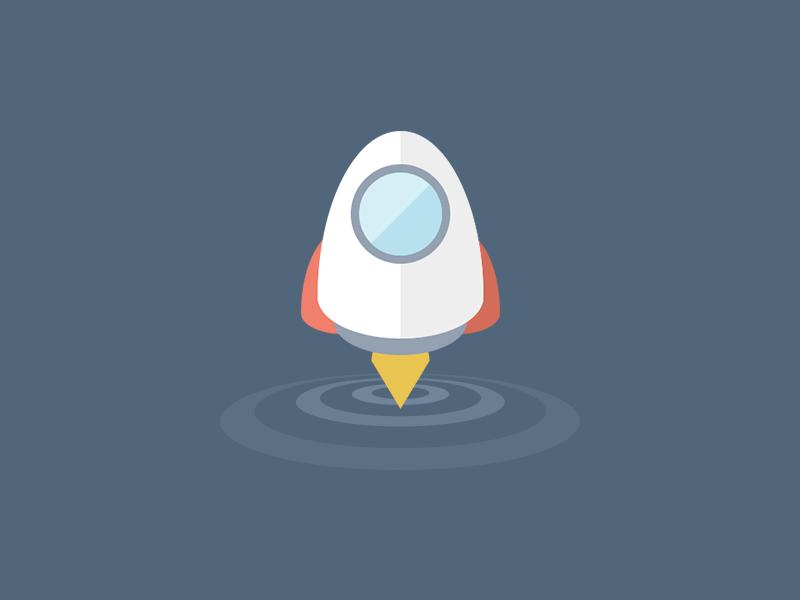 Rocket rocket logo icon flat