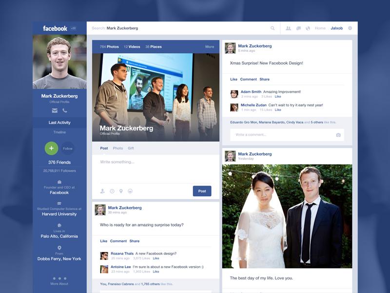 Facebook Timeline Concept facebook timeline redesign concept ui ux
