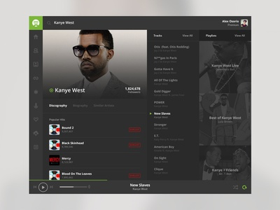 Spotify Flat Concept