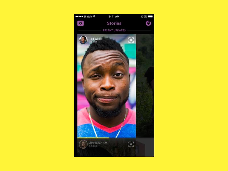 Snapchat Stories ui ux stories snapchat