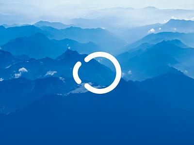 AO blue simple logo brand