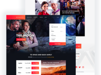 SPACED - Homepage Concept