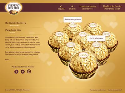 Gold chocolate web design