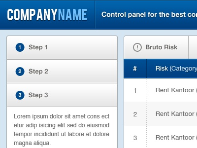 FREE Control Panel UI free resource control panel ui user interface psd blue company corporative