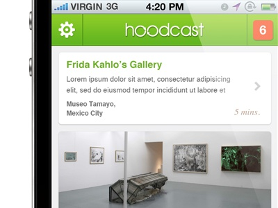 Discover new places iPhone app
