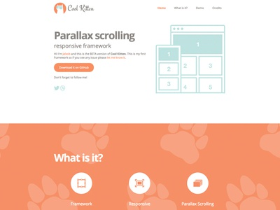Cool Kitten's Web Design web design framework responsive parallax scrolling easy simple