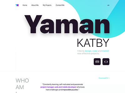Yaman KATBY Branding and Website Design website design website concept web branding website