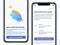 Bank app Design - Aria mobile app ui illustration lottie lottiefiles bank iphone x app