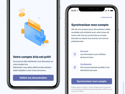 Bank app Design - Aria mobile app ui illustration lottie lottiefiles bank iphone x app