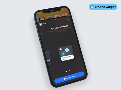 🌙 iOS 14 Widget - Waze iphone 12 pro iphone 12 mockup iphone app design app ui iphone app animation gps mobile app mockup iphone 12 iphone x ios waze widgets iphone widget