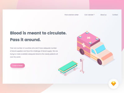 Blood donation - Landing page | Freebie